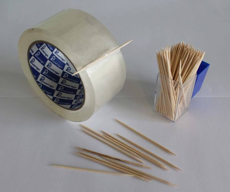 stick-a-toothpick-to-tape